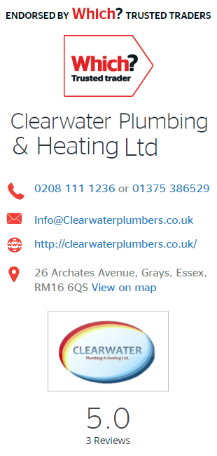 Which Trusted Trader information for Clearwater Plumbing & Heating Ltd